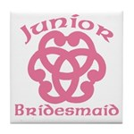 Celtic Knot Junior Bridesmaid Tile Coaster
