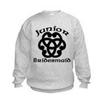 Celtic Knot Junior Bridesmaid Kids Sweatshirt