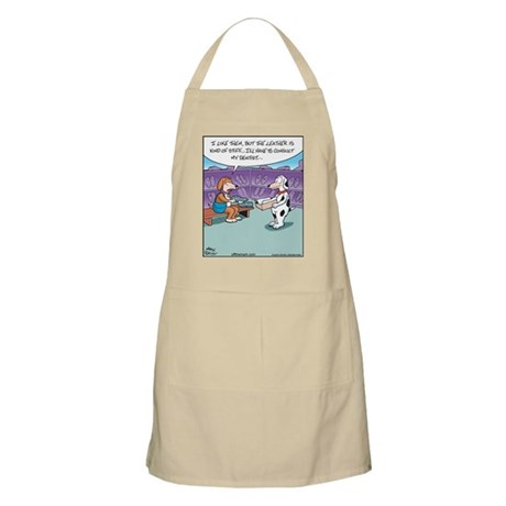 Dog Chewing Shoe BBQ Apron