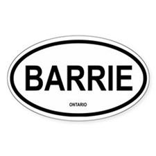 Barrie Oval Decal