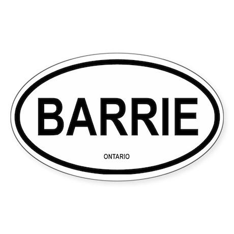 Barrie Oval Sticker