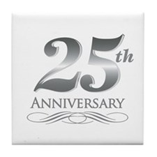 25 Year Anniversary Tile Coaster