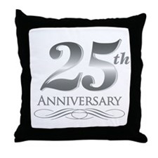 25 Year Anniversary Throw Pillow