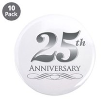 "25 Year Anniversary 3.5"" Button (10 pack)"