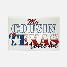 My Cousin in TX Rectangle Magnet (100 pack)