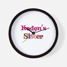 Kaden's Sister  Wall Clock
