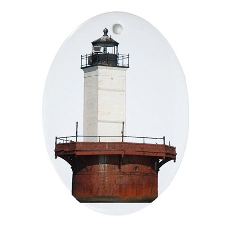 Chesapeake Bay Lighthouse Oval Ornament