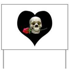 Blackheart SkullRose Yard Sign