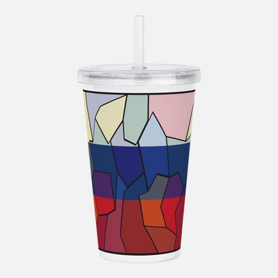 Russia Flag Stained Gl Acrylic Double-wall Tumbler