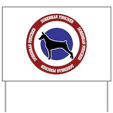 Doberman Pinscher Bullseye Yard Sign