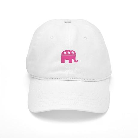 Republican Pink Elephant Logo Cap