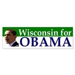 Wisconsin for Obama bumper sticker