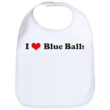 I Love Blue Balls Bib