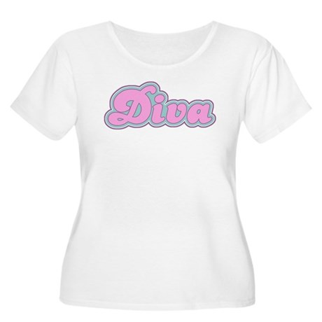 Diva Women's Plus Size Scoop Neck T-Shirt