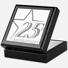 25 year anniversary Keepsake Box