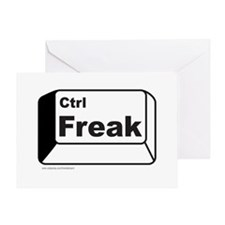 CONTROL FREAK Greeting Card