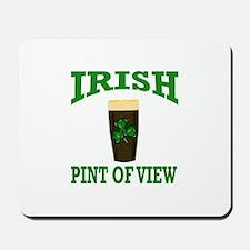 Irish Pint of View Beer Mousepad