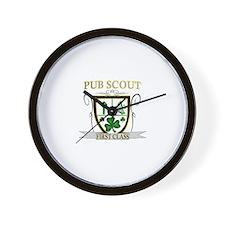 Irish Pub Scout Wall Clock