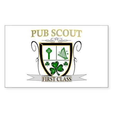 Irish Pub Scout Rectangle Sticker