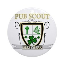 Irish Pub Scout Ornament (Round)