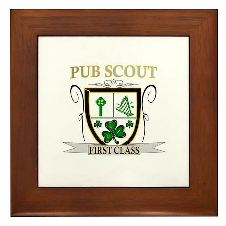 Irish Pub Scout Framed Tile