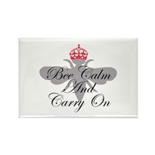 Bee Calm and Carry On Rectangle Magnet