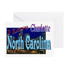 I Love Charlotte, North Carol Greeting Card