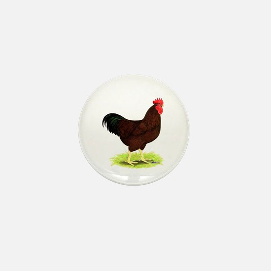 Rhode Island Red Rooster Mini Button