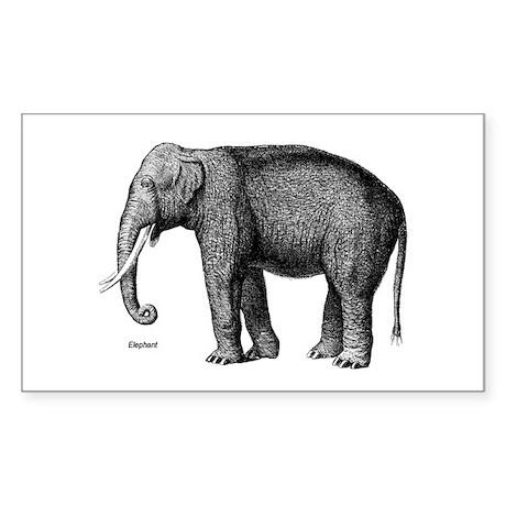 Elephant / Elephants Rectangle Sticker