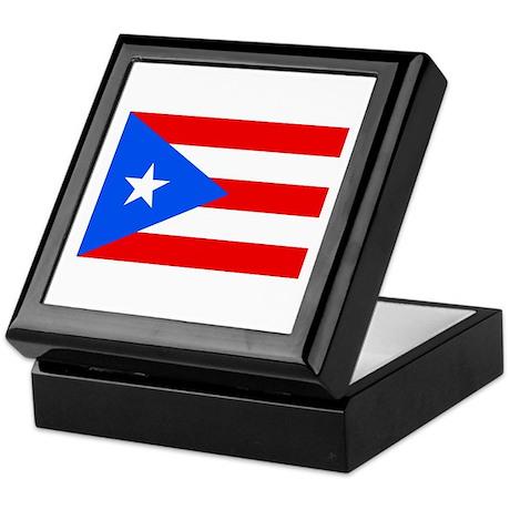Puerto Rican Flag Keepsake Box