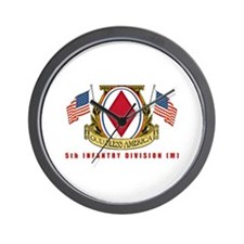 5th INFANTRY DIVISION Wall Clock
