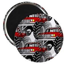 RED MONSTER TRUCK Magnet