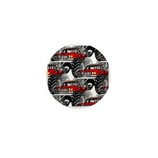 RED MONSTER TRUCK Mini Button