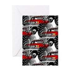 RED MONSTER TRUCK Greeting Card