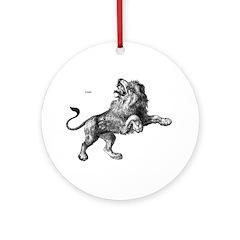 Lion Wild Animal Keepsake (Round)