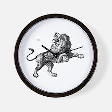 Lion Wild Animal Wall Clock