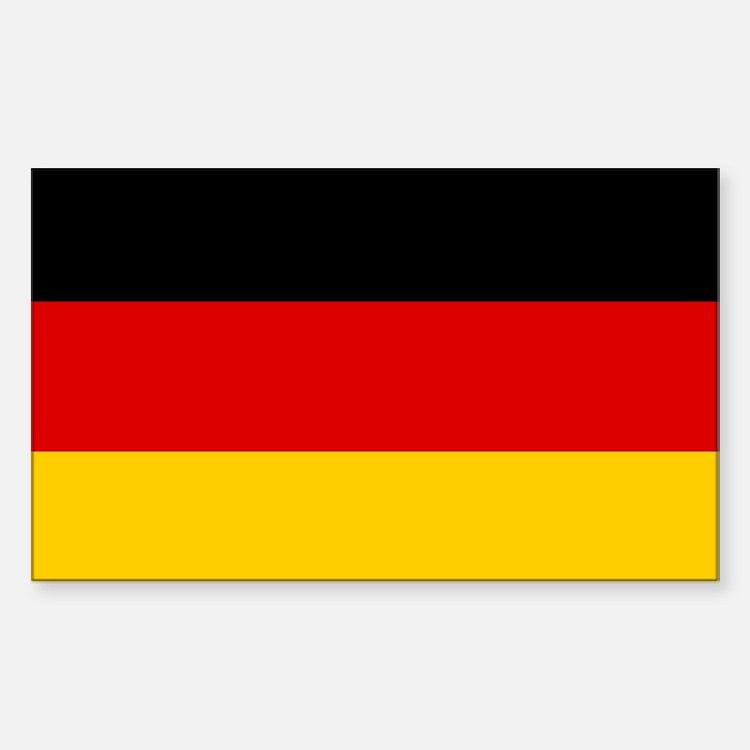 German Flag Rectangle Decal