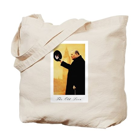 Churchill - The Old Lion Tote Bag