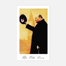 Churchill - The Old Lion Rectangle Decal