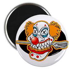Lacrosse Evil Clown Magnet