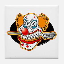 Lacrosse Evil Clown Tile Coaster