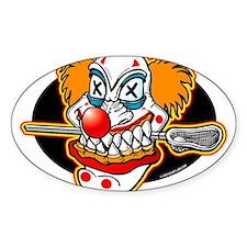 Lacrosse Evil Clown Oval Decal