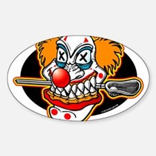 Lacrosse Evil Clown Oval Decal