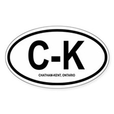 """Chatham-Kent """"C-K"""" Oval Decal"""