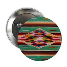 "Southwest Indian Weaving 2.25"" Button"