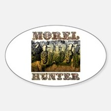 Morel hunter gifts and t-shir Oval Decal