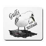 """Gull with Attitude"" Mousepad"
