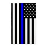 Police thin blue line Area Rugs