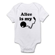 Alice (ball and chain) Infant Bodysuit