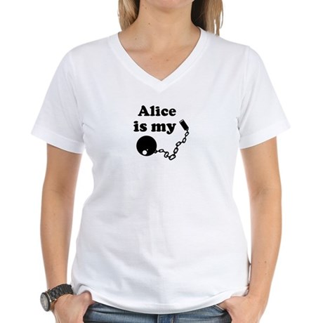 Alice (ball and chain) Women's V-Neck T-Shirt